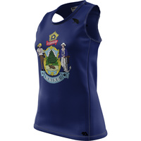 Crow Maine Flag Womens REC Singlet Elite